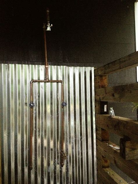 exposed copper pipe outdoor shower diy time