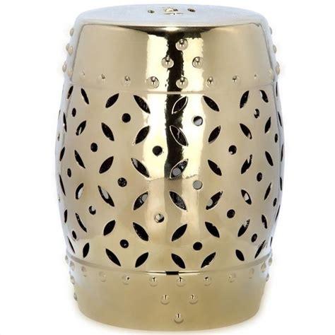 lattice garden stool safavieh lattice coin ceramic garden stool in gold acs4510d