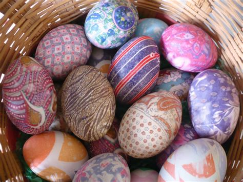 martha moments silk tie decorating technique for easter eggs