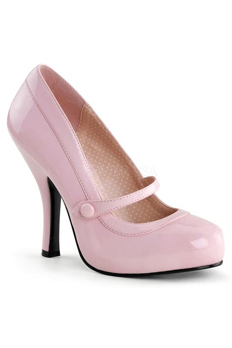 Cutie Boots High Heels baby pink leather strapped high heels patent faux leather