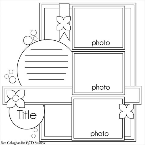 scrapbook layout scrapping pinterest