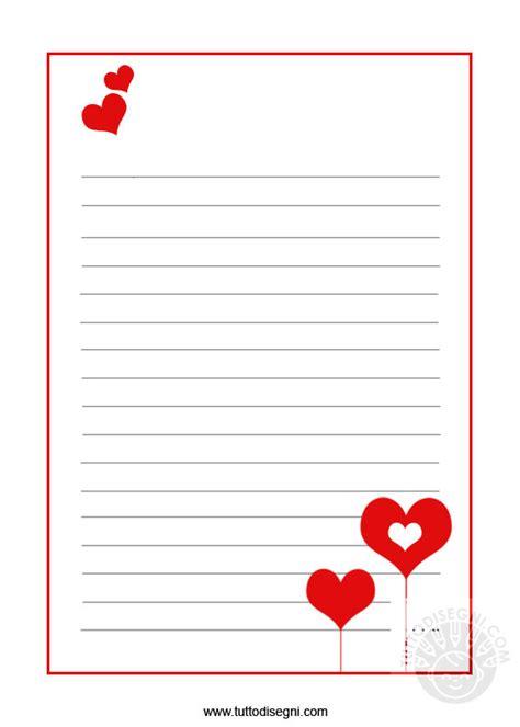 fogli per lettere carta da lettere san valentino tuttodisegni