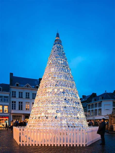 porcelain christmas tree in hasselt belgium by mooz