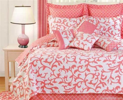 coral color comforter serendipity coral quilt bedding by c f enterprises
