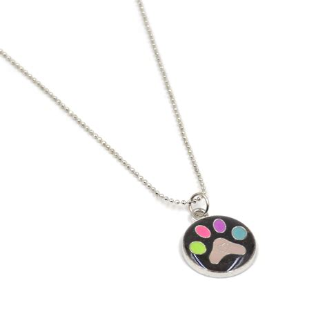 mood necklace multi color changing pendant