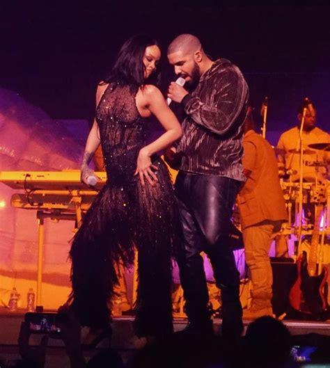 rihanna and drake did rihanna and drake kiss during raunchy performance of
