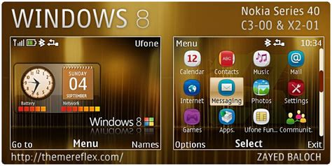 nokia c3 themes windows xp windows 8 theme for nokia c3 x2 01 themereflex