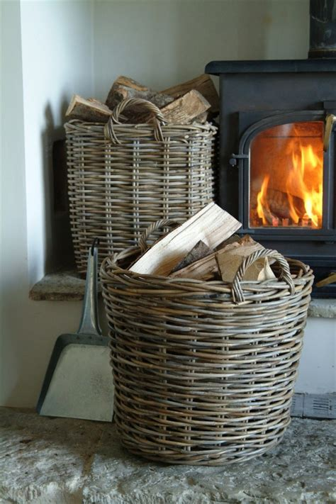 Fireplace Wood Basket by Baskets For Firewood Home In The City Barcelona