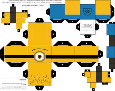 Paper Crafts Templates - minion papercraft template newhairstylesformen2014