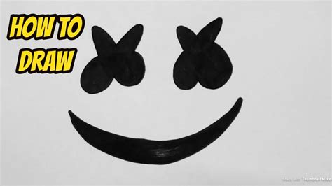 marshmello eyes how to draw marshmello helmet easy youtube