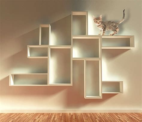 Try These 8 Cool Ideas To Build Wall Shelves For Cats Cat Bookshelves