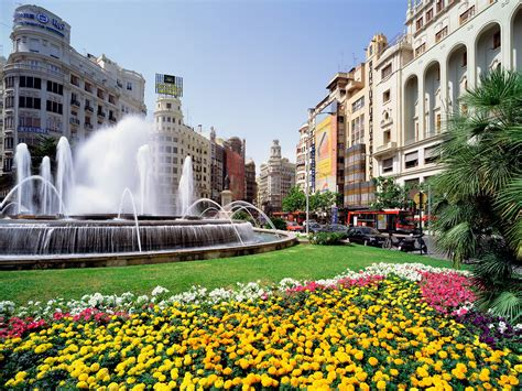 valencia plaza the free spain landscape wallpapers powerpoint