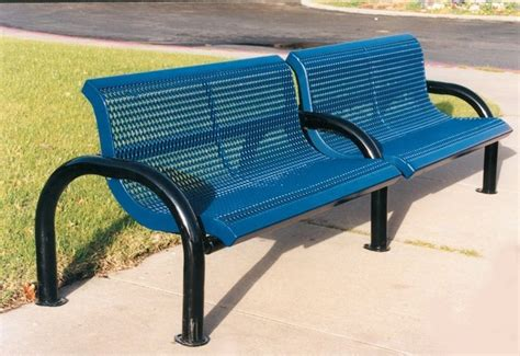 commercial grade park benches webcoat modern series expanded metal commercial grade park