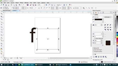 tutorial corel draw x5 buat logo tutorial coreldraw buat logo facebook