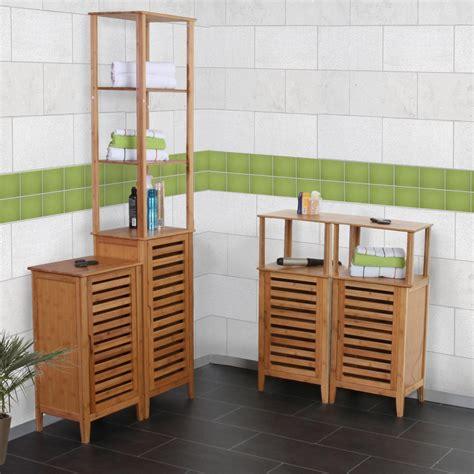 schränkchen badschrank bambus gispatcher