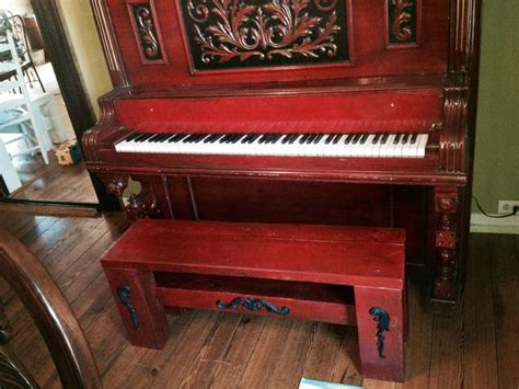 upcycled piano bench pin by melanie carroll on cool ideas for home decoration