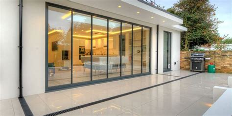 bi folding patio doors bi folding doors ultraslim aluminium frameless glass doors