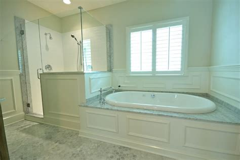 bathroom with bathtub wainscoting around tub bathroom victorian with brown walls