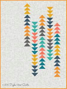 Modern Flying Geese Quilt Pattern by Modern Flying Geese