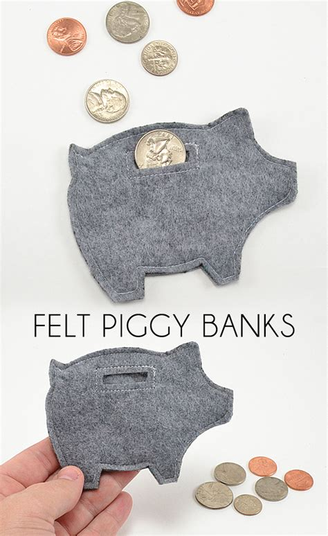 Handmade Felt Craft Patterns - small gifts for any occasion piggy banks free