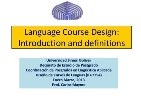 design language definition language course design