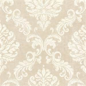 Skull Bedroom Decor Sebastion Beige Damask Wallpaper Contemporary
