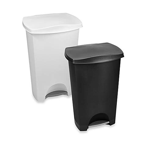 garbage can bed bath and beyond 42 liter step trash can bed bath beyond