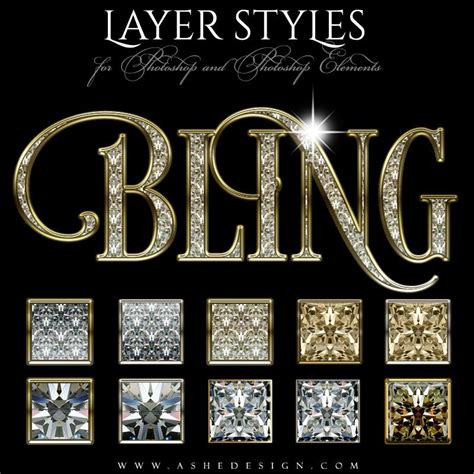 home design free gems photoshop layer styles bling ashedesign