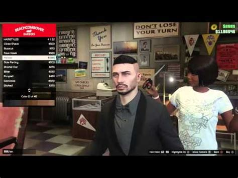 gta online hair colors how change your hair color and eyes gta 5 online next gen