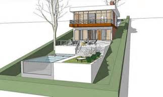 House Plans For Sloping Lots The Architect 187 Modern House Plan For A Land With A Big