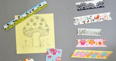 Gunting Tekstur tutorial kraf kertas washi fridge magnet from famf tower