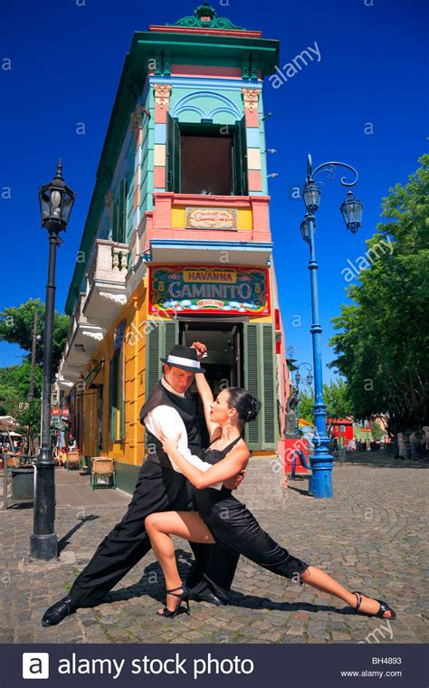 caminito buenos aires and fabio dancers performing milonga and