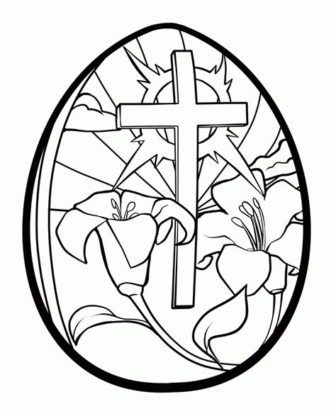 printable easter stained glass coloring pages az