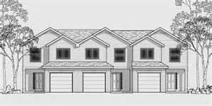 Multi Family House Plans Triplex Triplex Multi Family Plan 3 Bedroom 1 Car Garage