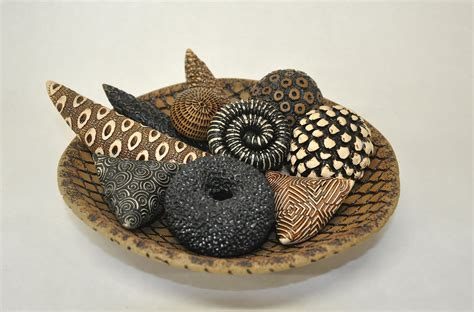 earth toned bowl and rattles by jean ohl ceramic