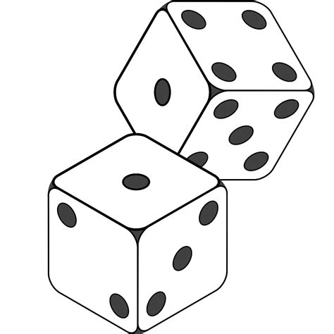 printable dice images images of dice clipart best