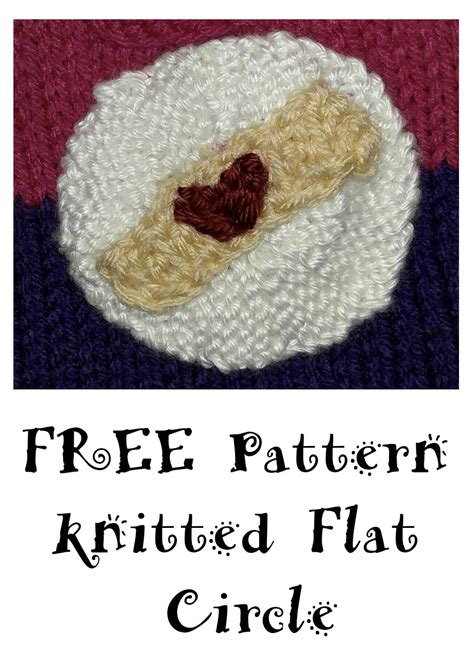 knitting in a circle how to knit a flat circle knitted flat circle pattern