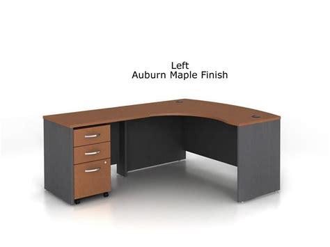 l shaped desk with drawers bush series c l shaped bow desk bundle w three drawer