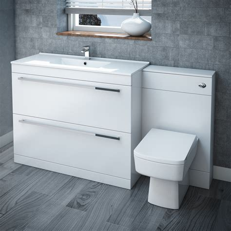 Bathroom Suites Cheap 200 by High Gloss White Vanity Bathroom Suite W1500 X D400