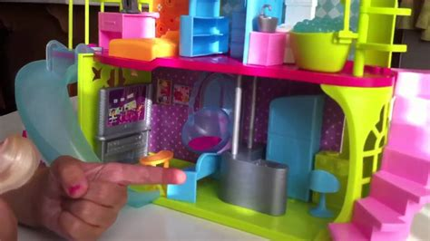 polly pocket doll house polly pocket pollyworld house review by kiara mei youtube