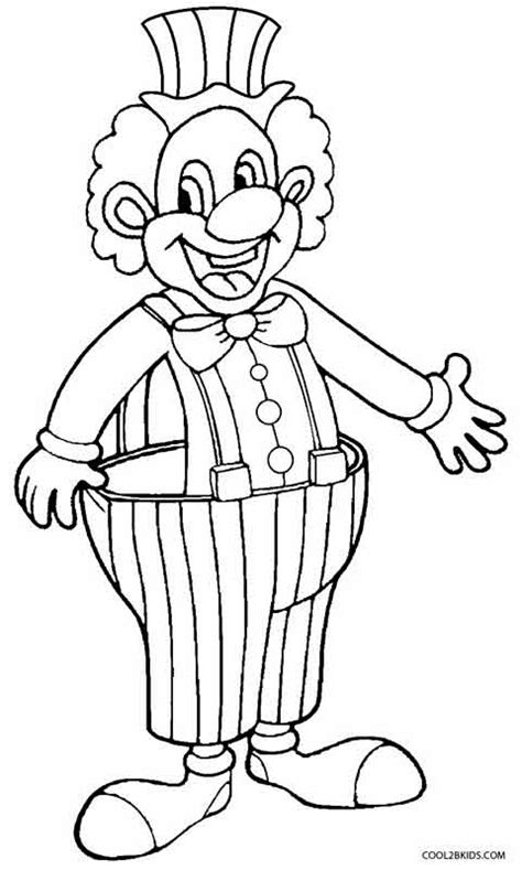 free coloring pages of happy clown