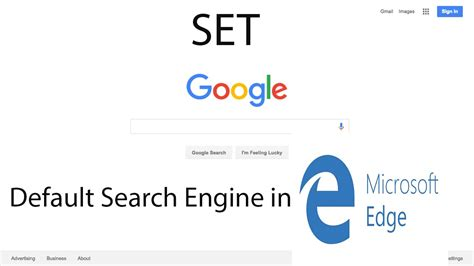 how to set as default search engine in microsoft