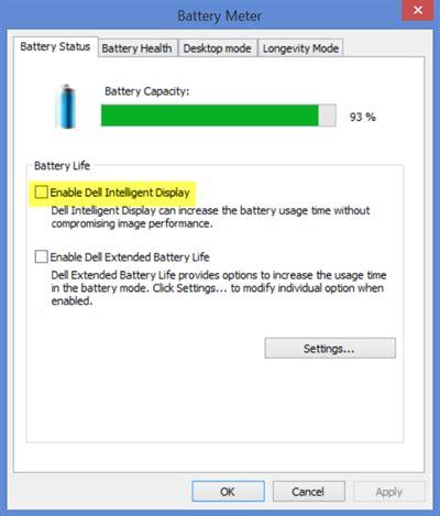 reset dell laptop battery meter fix windows laptop screen brightness flickering