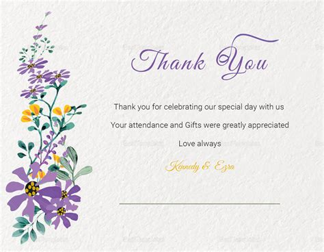 thank you card illustrator template garden thank you card template in psd word publisher