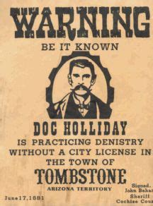 doc holliday. outlaw dentist. paul a. griffin, dds, pa