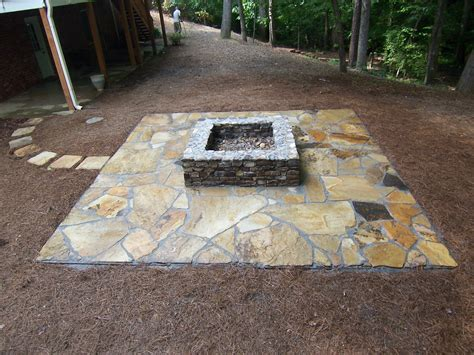 square pits designs marvelous square stones shaped pit ideas added stones