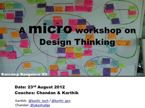 design thinking workshop bangalore introduction to design thinking a micro workshop