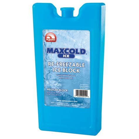 Maxcold Substitute Nature Igloo Gel Pendingin igloo coolers maxcold medium freeze block blue