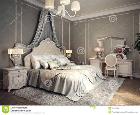picture for bedroom classic bedroom interior stock illustration illustration