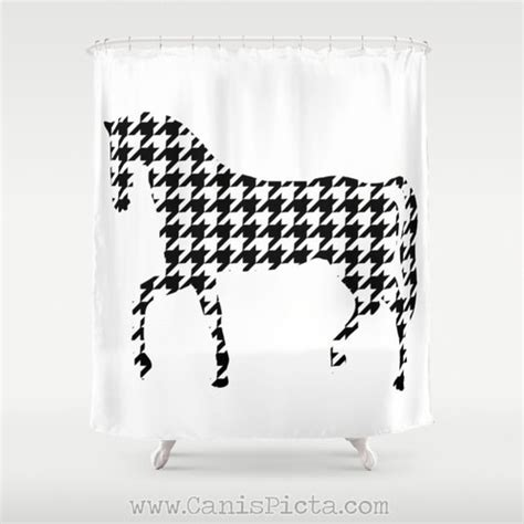 houndstooth shower curtain horse houndstooth shower curtain 71 x 74 geometric